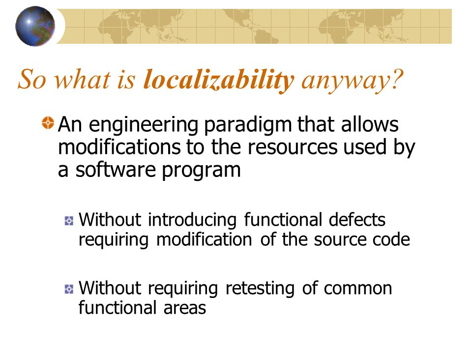 So what is localizability anyway.