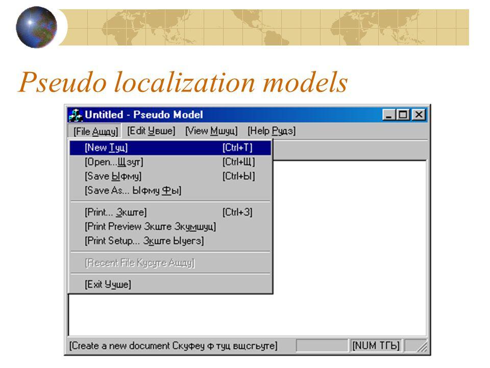 Pseudo localization models