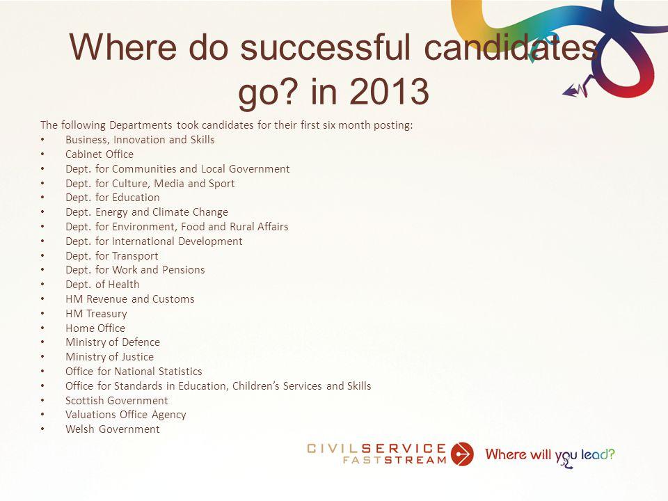 Where do successful candidates go.