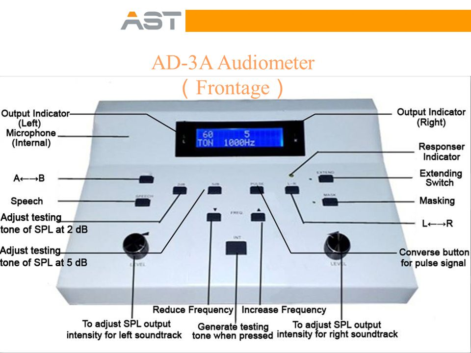 AD-3A Audiometer ( Side View )