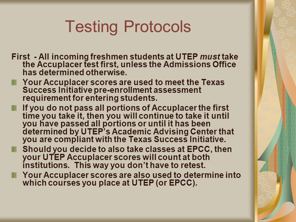Procedures Apply for admission to UTEP.