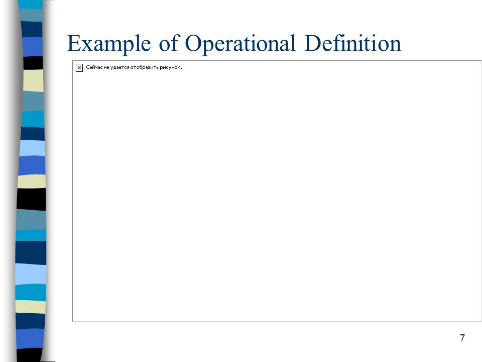 7 Example of Operational Definition