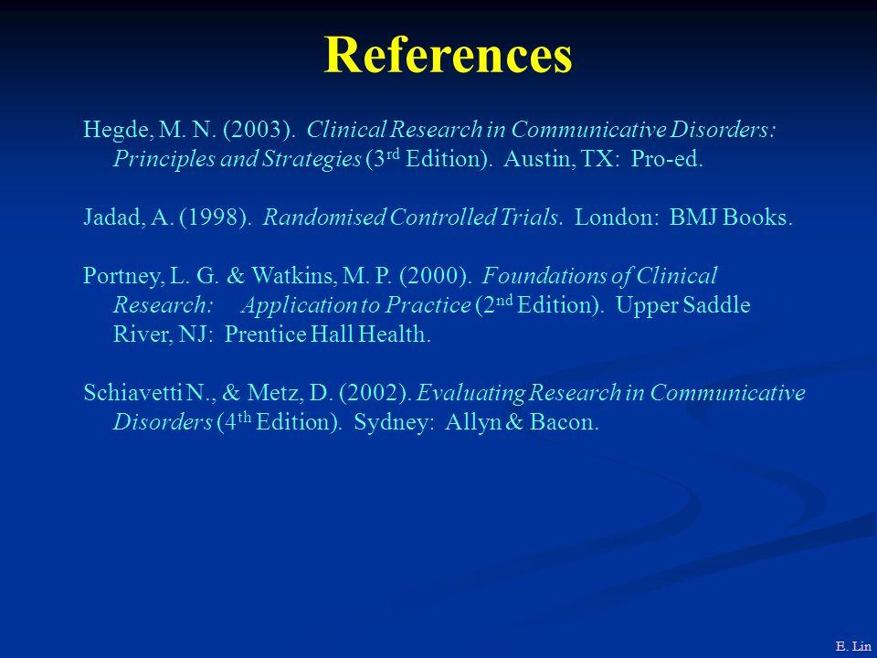 References Hegde, M.N. (2003).