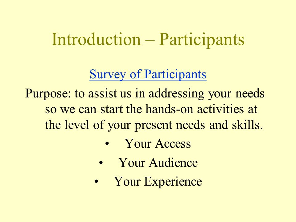 Example Scenario: Who Who are potential users.