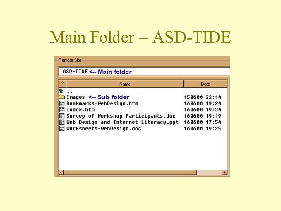 Main Folder – ASD-TIDE