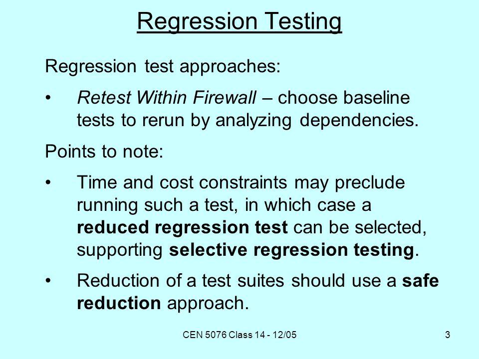 CEN 5076 Class 14 - 12/0524 Program-Based Technique [Yang et al.
