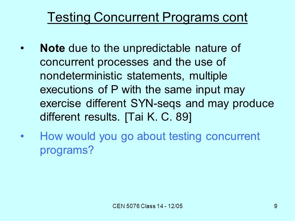 CEN 5076 Class 14 - 12/0520 Program-Based Technique [Yang et al.