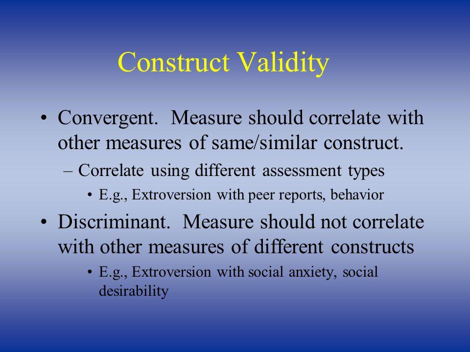 Construct Validity Convergent.