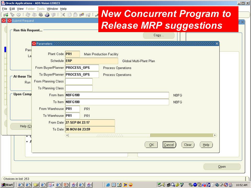 New Concurrent Program to Release MRP suggestions