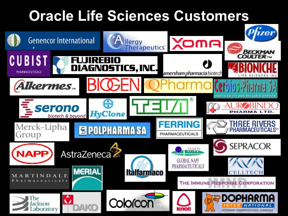 Oracle Life Sciences Customers