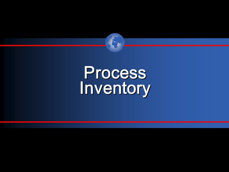 Process Inventory Process Inventory