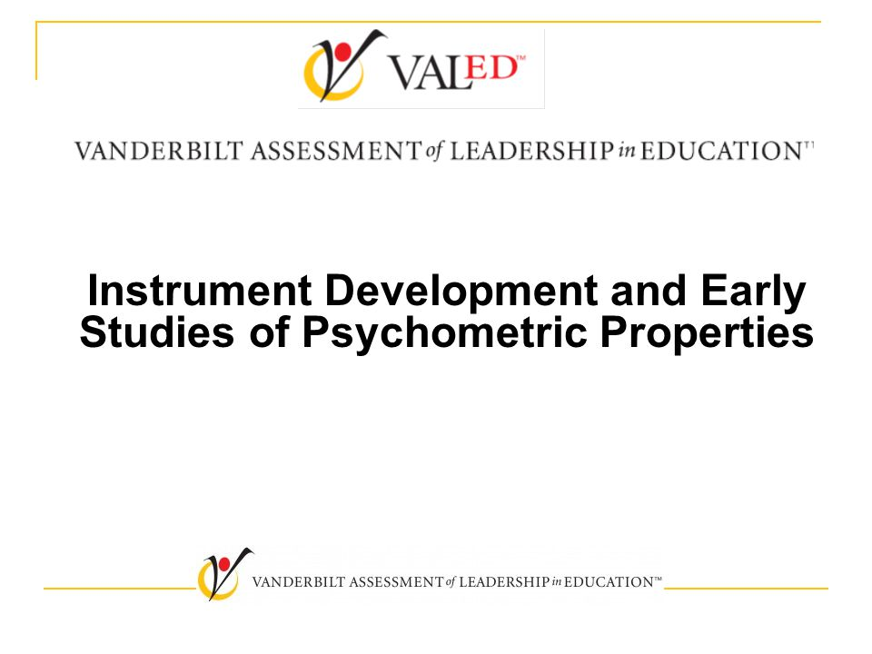 Instrument Development and Early Studies of Psychometric Properties