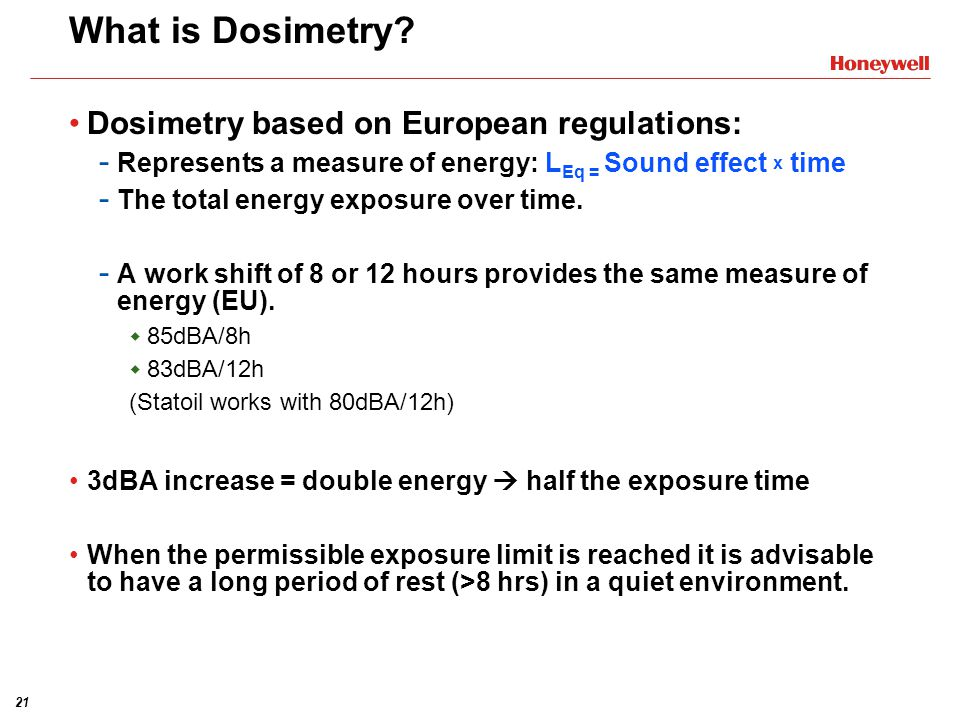 20 Dosimetry vs. Personal Sound Exposure Monitoring (PSEM)