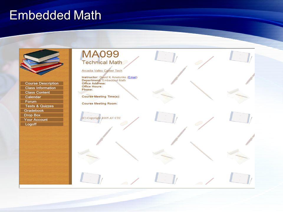 Embedded Math