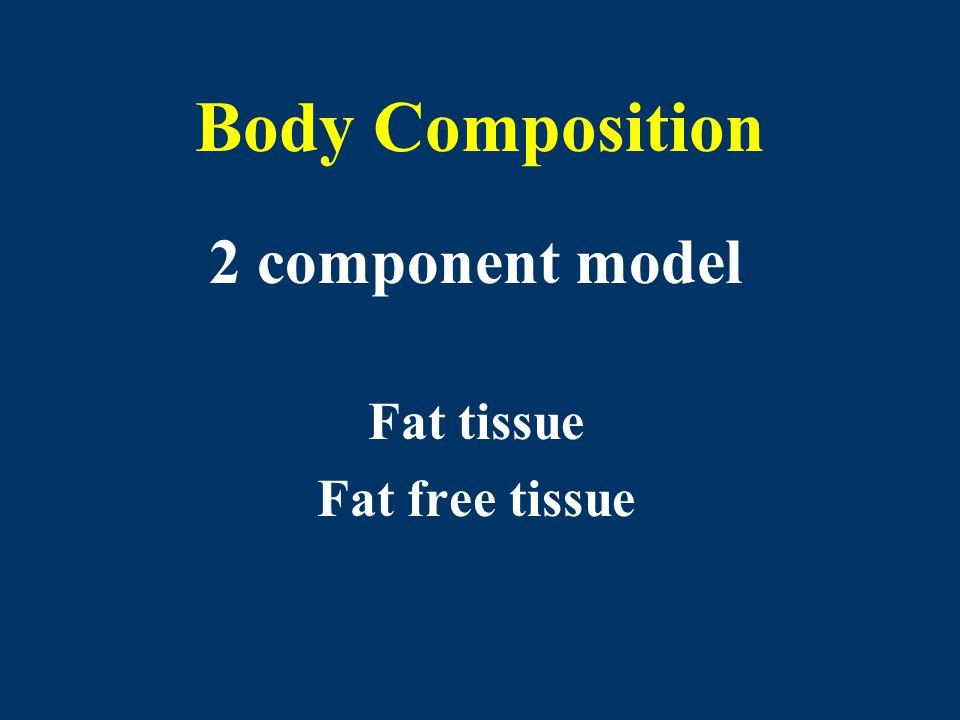 2 component model Fat tissue Fat free tissue