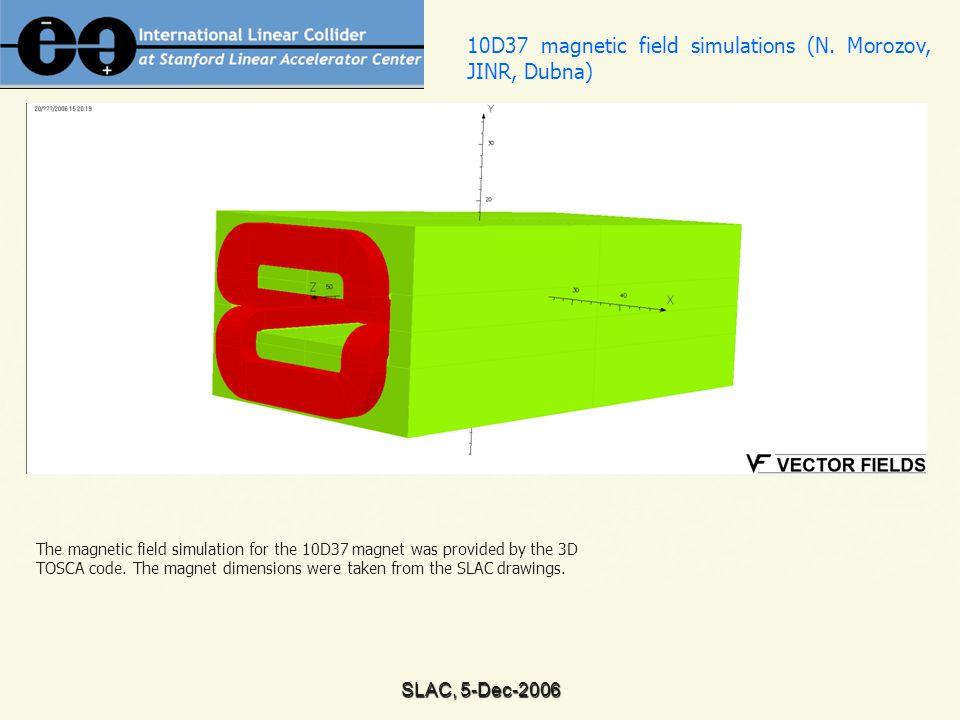 SLAC, 5-Dec-2006 Excitation lines for 10D37 magnet without screens