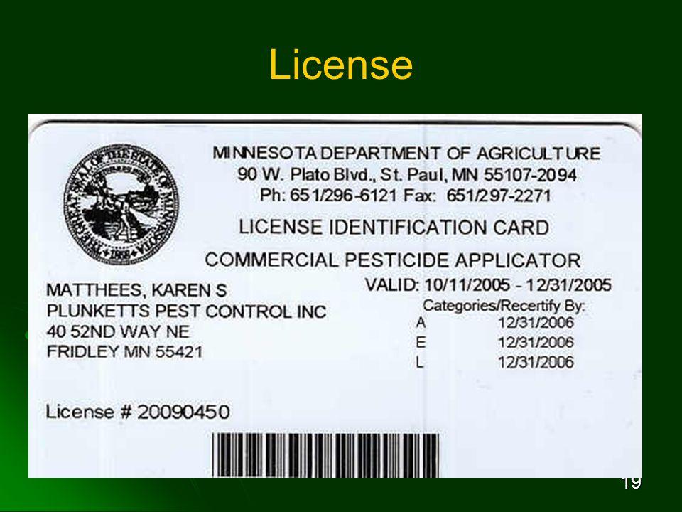 19 License