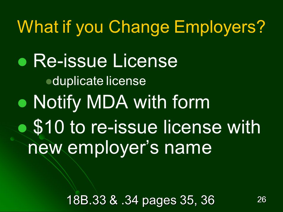 18B.33 &.34 pages 35, 36 26 What if you Change Employers.