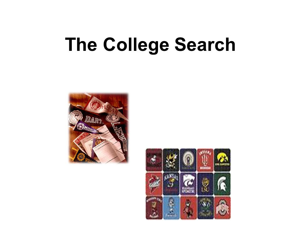 Apply to Choice Colleges Start early.