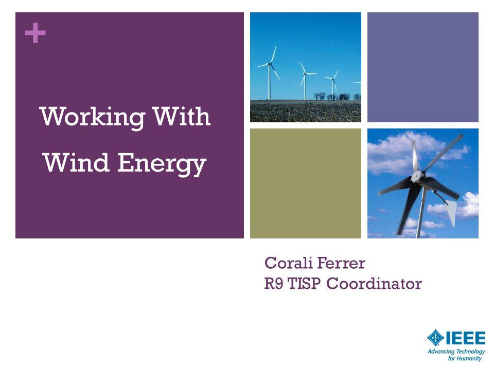 + Corali Ferrer R9 TISP Coordinator Working With Wind Energy 25