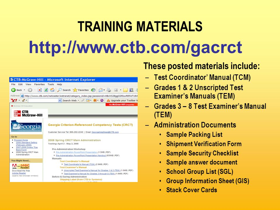 POST-TEST ACTIVITIES: Packing Scorable Materials for Grades 1 & 2 Example: There is only 1 Group Information Sheet (GIS) for each class or testing group.