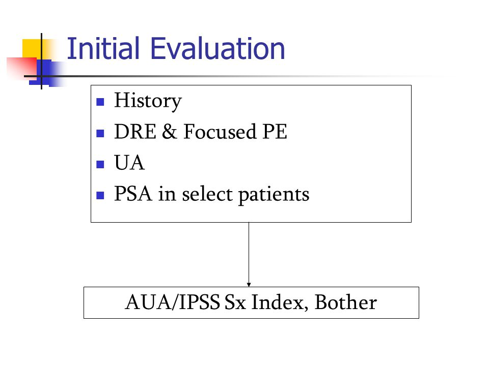 Qmax : rate of urine flow Predict the response to surgery Predict the natural Hx of BPH Advantages LUTS with Normal Qmax : non prostatic cause Qmax < 10ml/sec : obstruction Disadvantages Sx response is not dependent on Qmax Test / retest variability, lack of well designed study → Not feasible to establish cut-point