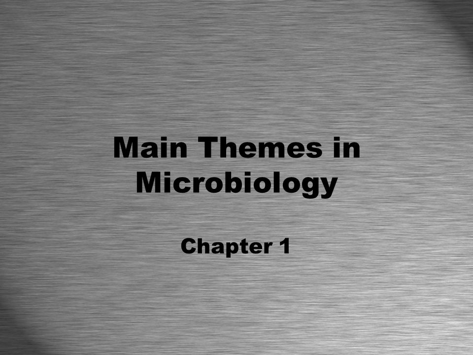 Main Themes in Microbiology Chapter 1