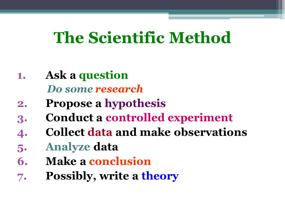 The Pillar of Science: The scientific method Origin in the 1600s…enough of the superstition!!