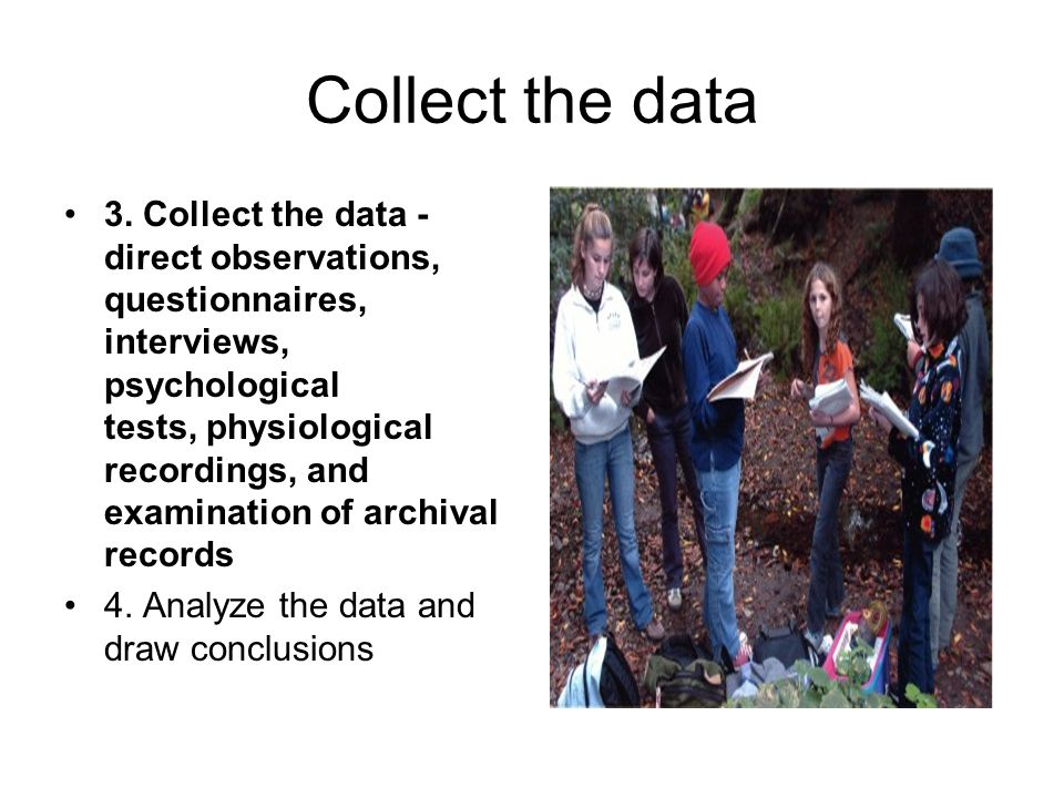 Collect the data 3.