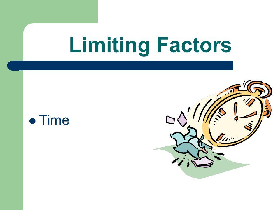 Limiting Factors Time