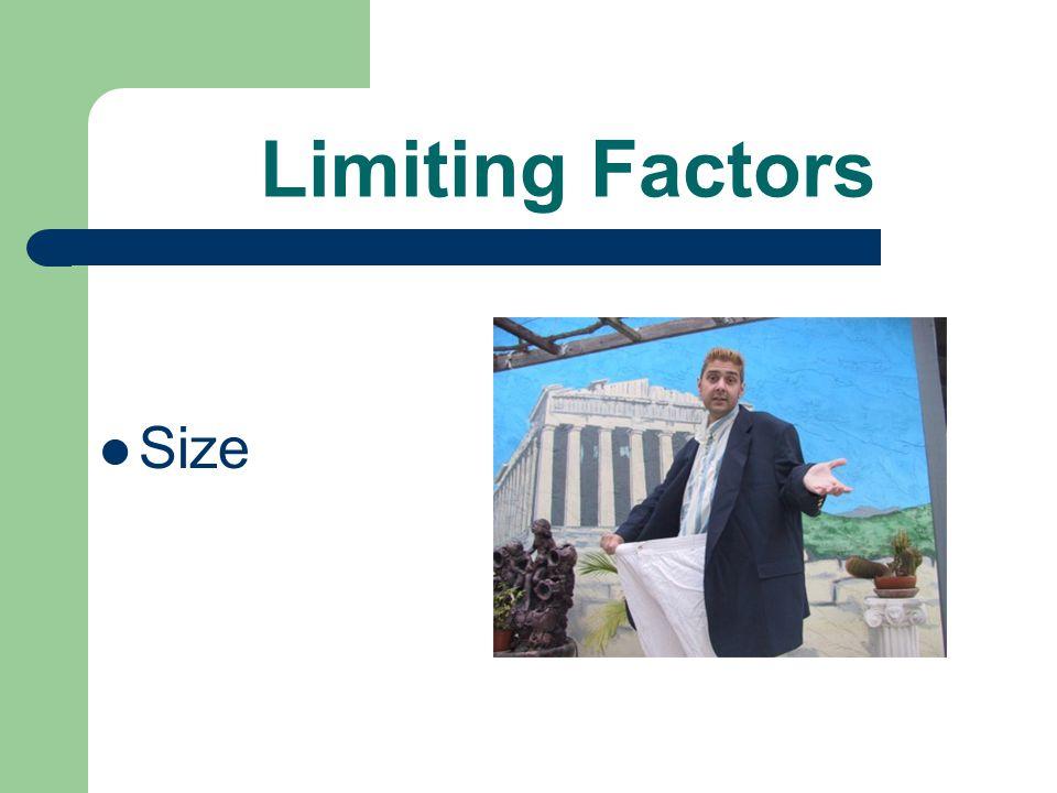 Limiting Factors Size