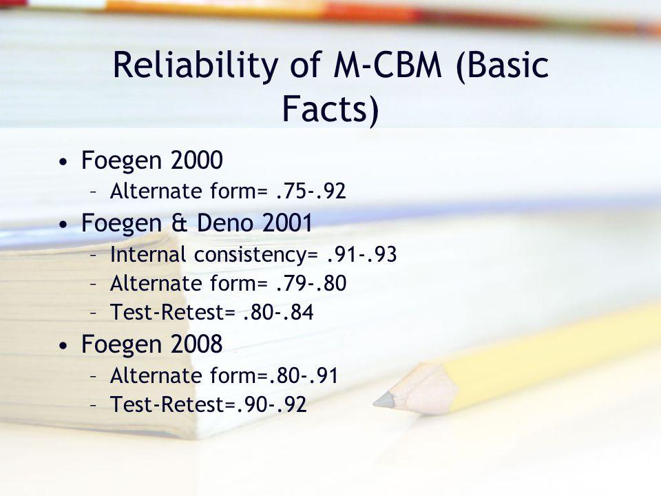 Easy CBM Sample