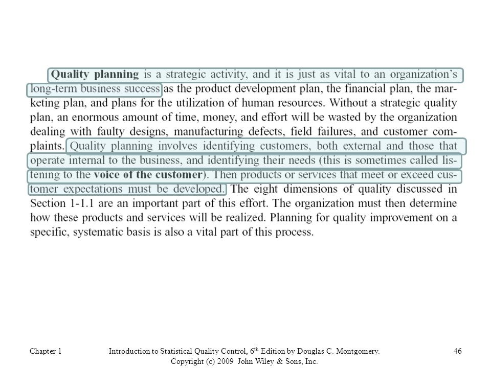 Chapter 146Introduction to Statistical Quality Control, 6 th Edition by Douglas C.