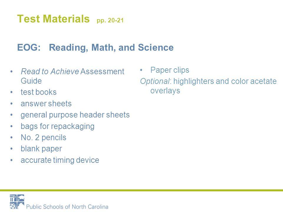 Test Materials pp.
