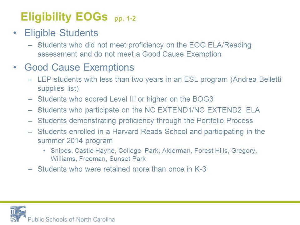 Eligibility EOGs pp.