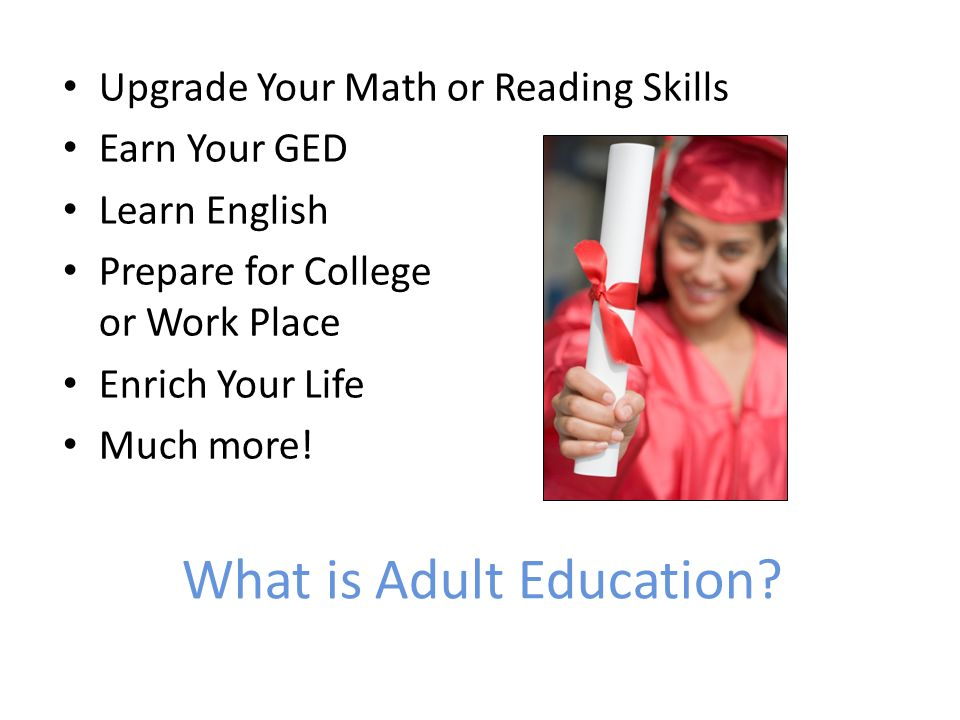 What is Adult Education.