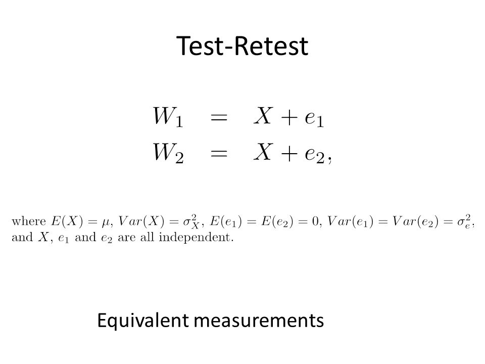Test-Retest Equivalent measurements