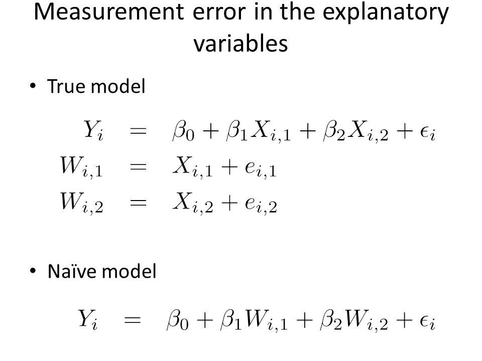 True model Naïve model