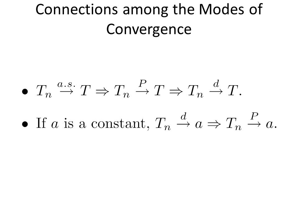 Connections among the Modes of Convergence