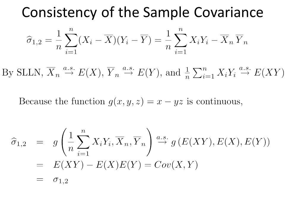 Consistency of the Sample Covariance
