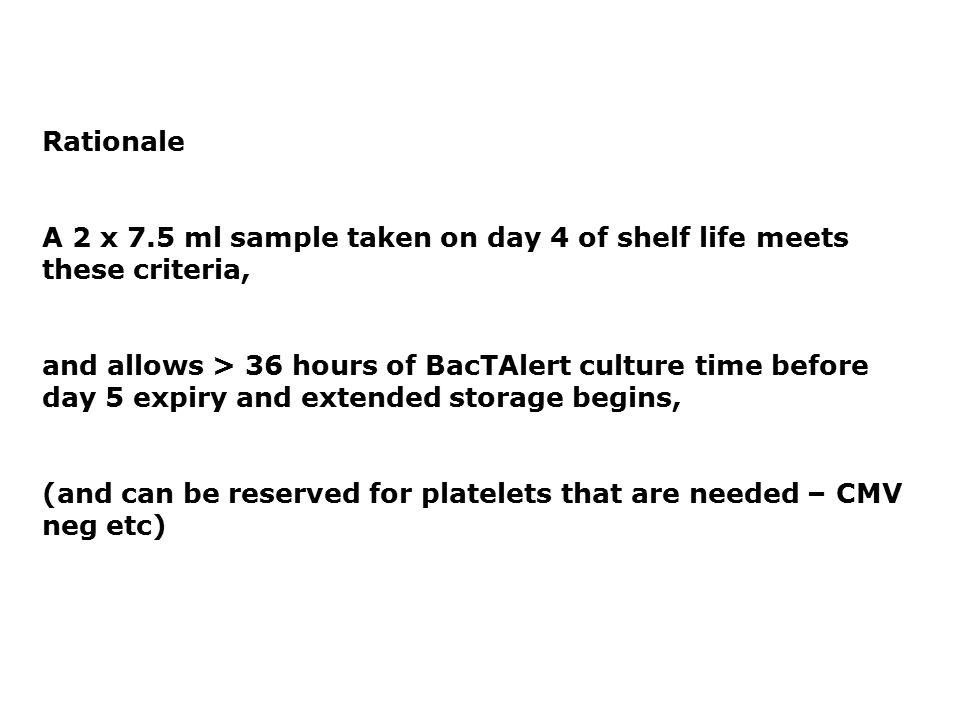 IBTS – next steps: Pathogen Inactivation v. Bacterial Testing