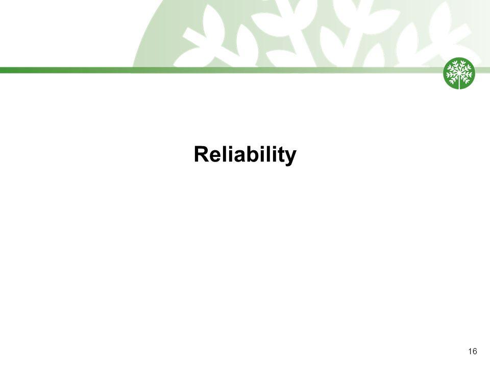 Reliability 16