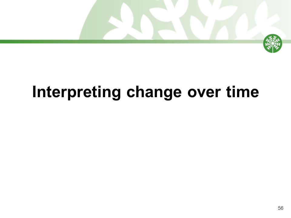 Interpreting change over time 56