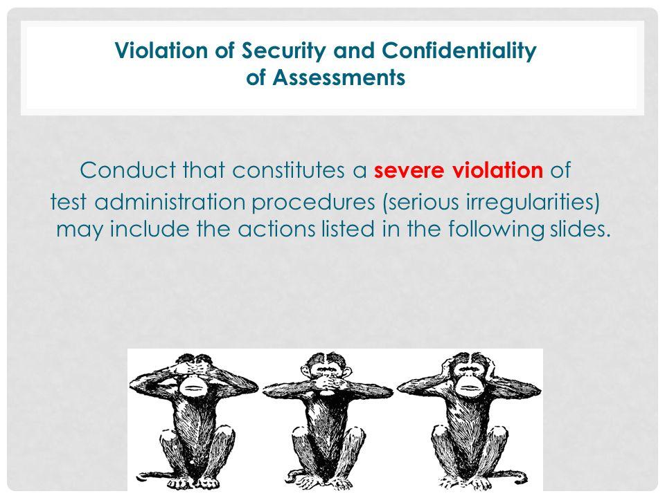 Miscellaneous Testing Information Designate test administrators and monitors.