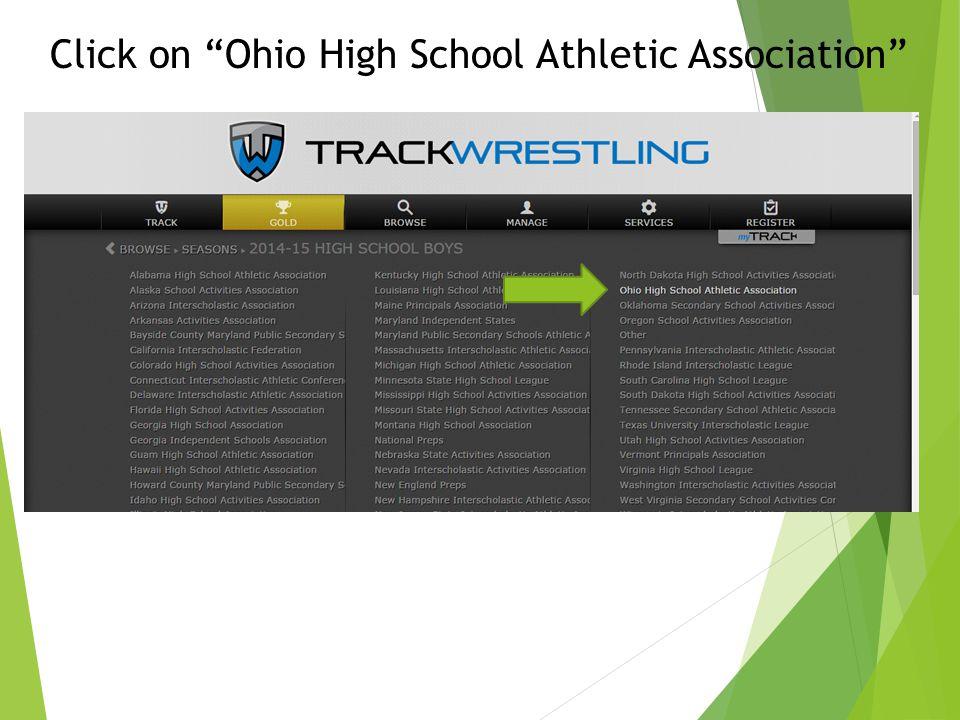 "Click on ""Ohio High School Athletic Association"""