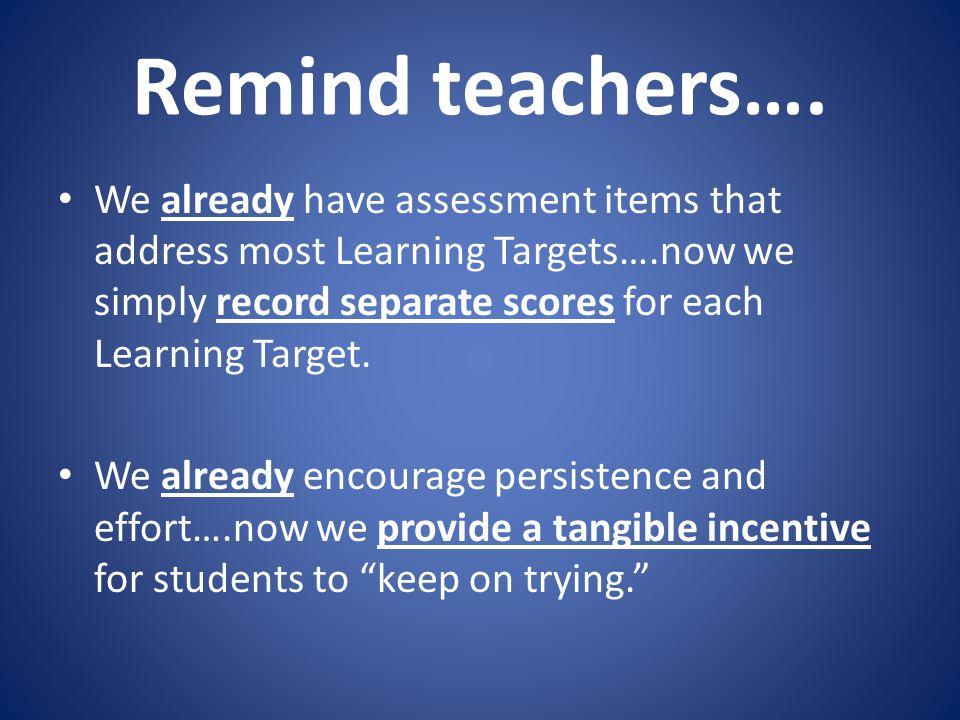 Remind teachers….