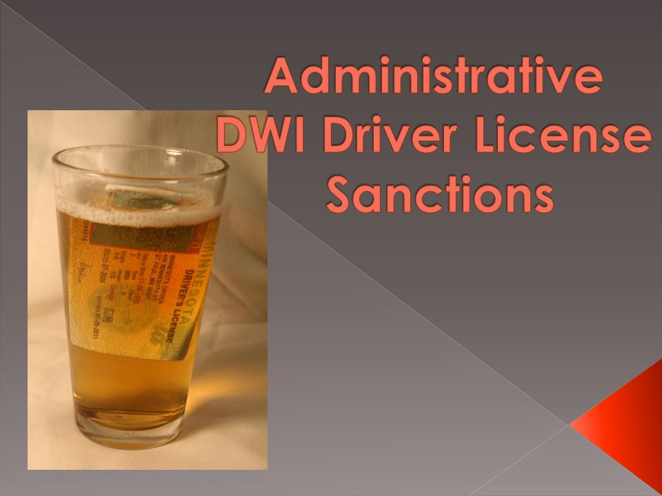  Lowers AC level for enhanced sanctions from 0.20 to 0.16 › Includes license plate impoundment  Lengthens revocation time-periods › First-time offenders with an AC of 0.16 or greater = 1year › Second-time offenders with an AC less than 0.16 = 1 year › Second-time offenders with an AC level 0.16 or greater = 2 years  Full driving privileges will be granted with installation of ignition interlock › No allowance for a limited license › Last three month must have no failed tests for alcohol detected by the II device prior to reinstatement