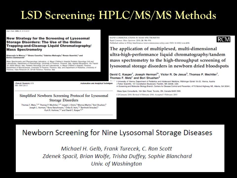 LSD Screening: HPLC/MS/MS Methods