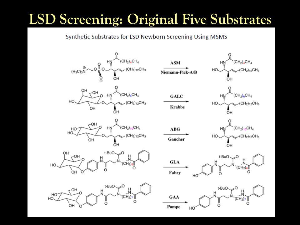 LSD Screening: Original Five Substrates