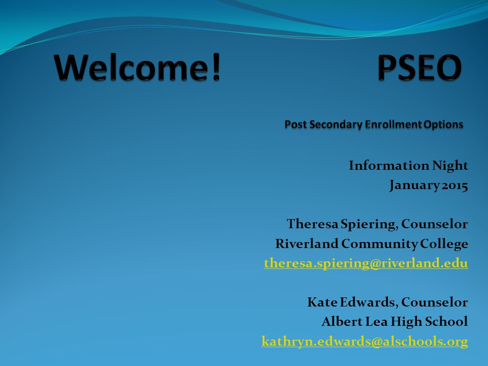 What is Post Secondary Enrollment Options.